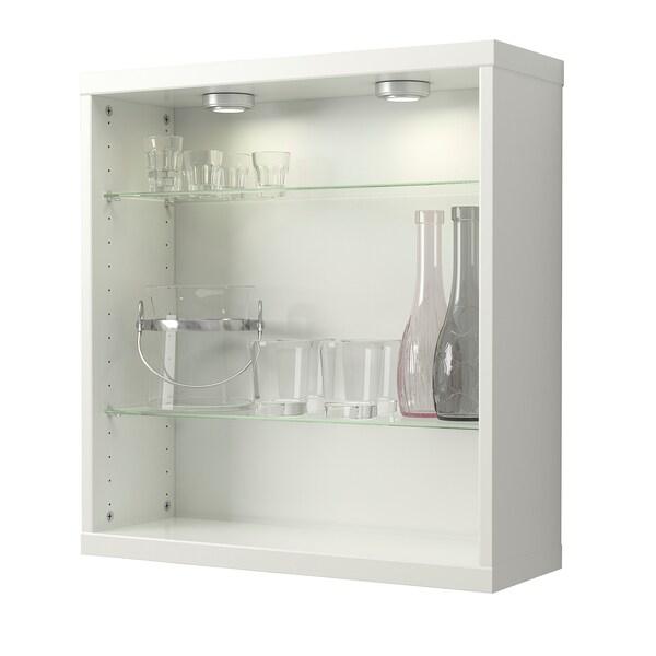 BESTÅ เบสตัว ชั้นวางกระจก, แก้ว, 56x16 ซม.
