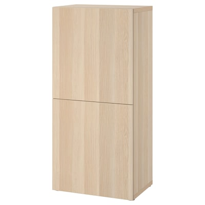 BESTÅ เบสตัว ตู้ชั้นวางบานทึบ
