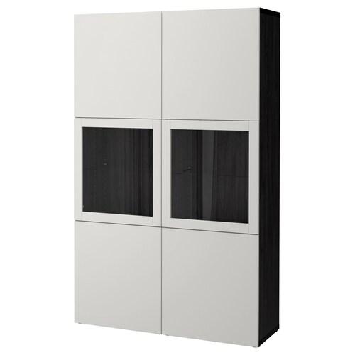 IKEA เบสตัว ตู้เก็บของบานกระจก