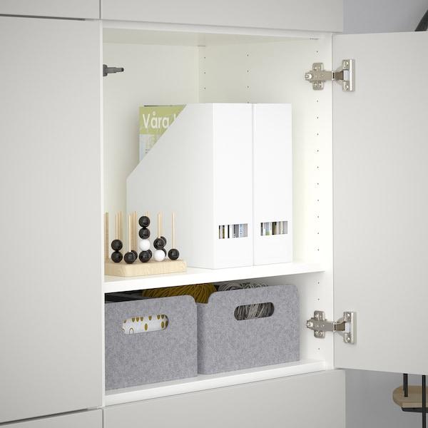 เบสตัว ตู้เก็บของพร้อมบานตู้, ขาว/ลัปป์วีคเกน เทาอ่อน, 120x40x192 ซม.