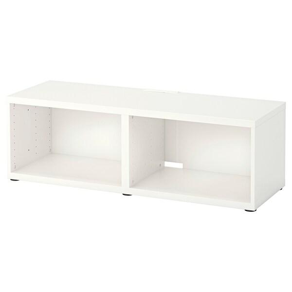 BESTÅ เบสตัว ตู้วางทีวี, ขาว, 120x40x38 ซม.