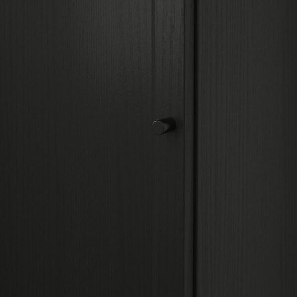 BILLY บิลลี่ / OXBERG อ็อกเบรย์ ตู้หนังสือบานเดี่ยว, น้ำตาลดำ, 40x30x106 ซม.