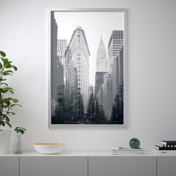 บเยิร์กสตา ภาพใส่กรอบ New York City/สีอะลูมิเนียม 118 ซม. 78 ซม.