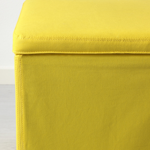 BOSNÄS บูสแนส สตูลเหลี่ยมเก็บของได้, รอนสตา เหลือง
