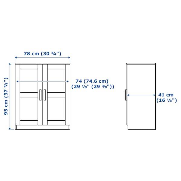 BRIMNES บริมเนส ตู้บานเปิด, ขาว, 78x95 ซม.