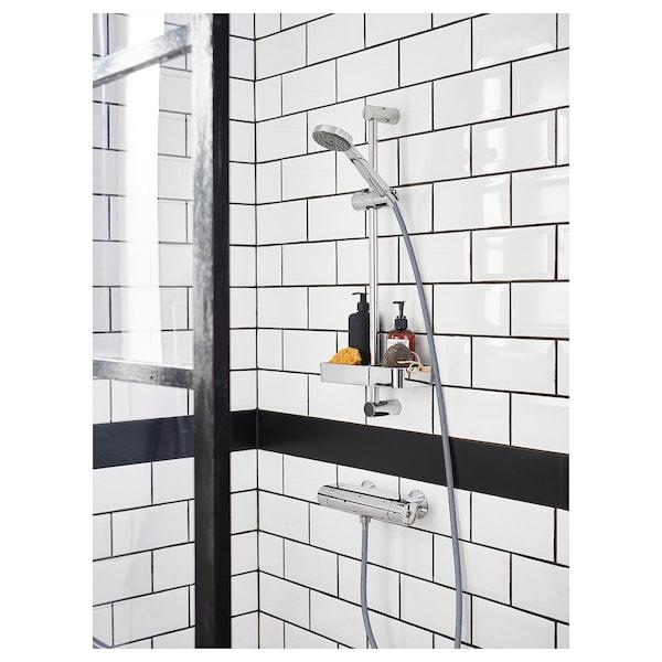 BROGRUND บรูกรุนด์ ชั้นวางของอาบน้ำ, ชุบโครเมียม, 25x4 ซม.