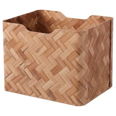 BULLIG บูลลิก กล่อง, ไม้ไผ่/น้ำตาล, 25x32x25 ซม.