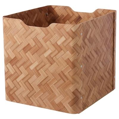 BULLIG บูลลิก กล่อง, ไม้ไผ่/น้ำตาล, 32x35x33 ซม.