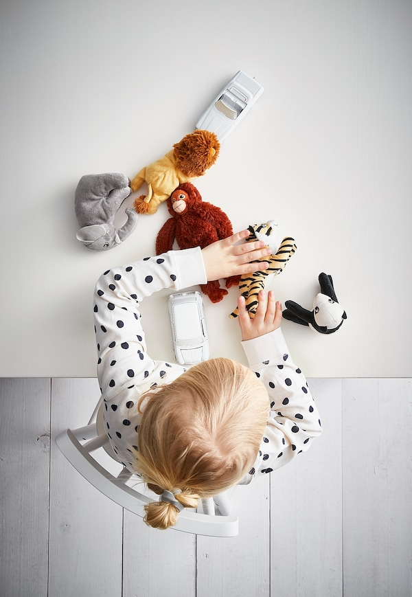 DJUNGELSKOG ยุงเงลสกูก ตุ๊กตาผ้า, คละแบบ