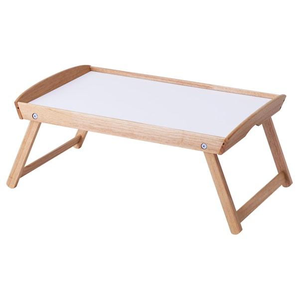 DJURA ยูรา ถาดวางอาหารบนเตียง, ไม้ยาง, 58x38x25 ซม.