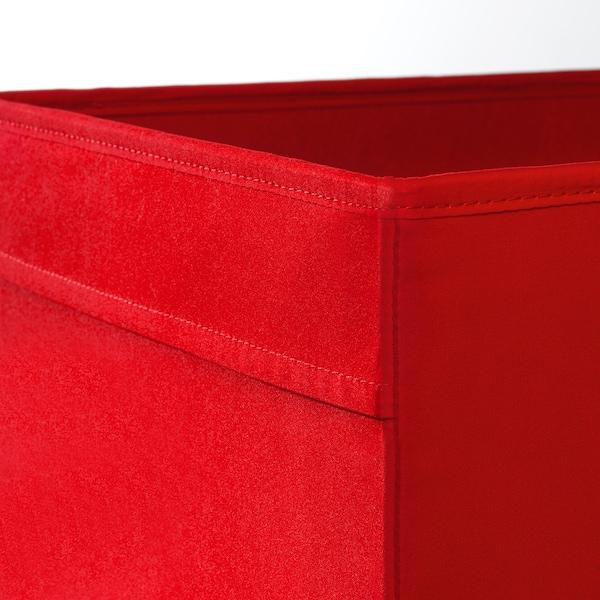 DRÖNA เดรินน่า กล่องผ้า, แดง, 33x38x33 ซม.