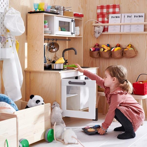 DUKTIG ดุคติก ครัวเด็กเล่น, ไม้เบิร์ช, 72x40x109 ซม.