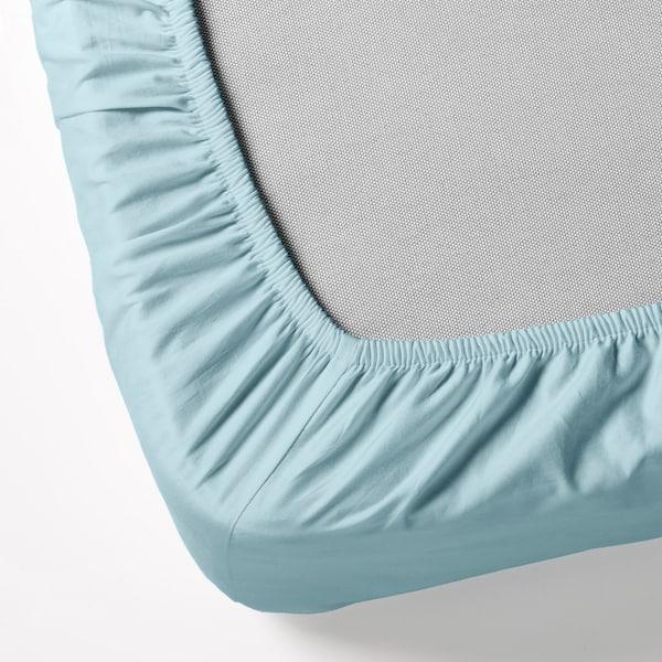 ดวอล่า ผ้าปูที่นอนรัดมุม ฟ้าอ่อน 152 ตร.นิ้ว 200 ซม. 90 ซม.
