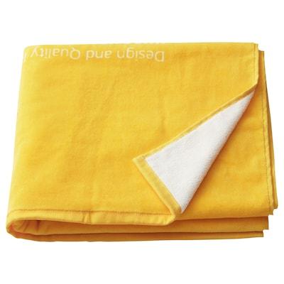 EFTERTRÄDA เอฟเตอร์แทรดา ผ้าเช็ดตัว, เหลือง, 70x140 ซม.