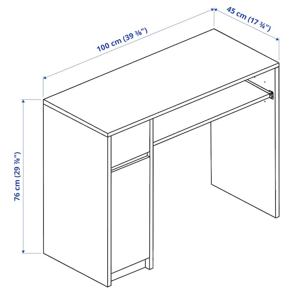 EJLER เอจเลอร์ โต๊ะทำงาน, ขาว, 100x45 ซม.