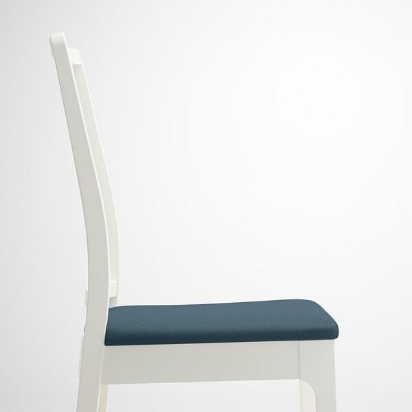 EKEDALEN เอียเคดาเลน เก้าอี้, ขาว/อีเดคุลลา น้ำเงิน