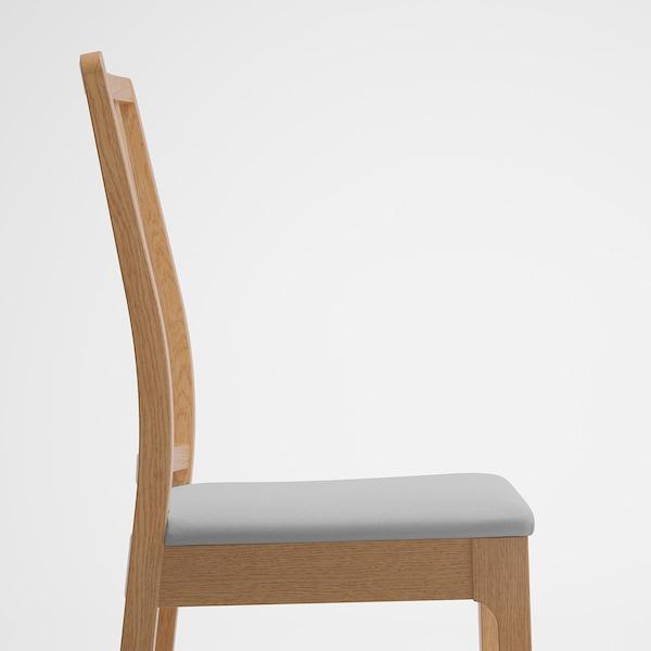 EKEDALEN เอียเคดาเลน ชุดโต๊ะและเก้าอี้ 2 ตัว, ไม้โอ๊ค/อุชต้า เทาอ่อน, 80/120 ซม.
