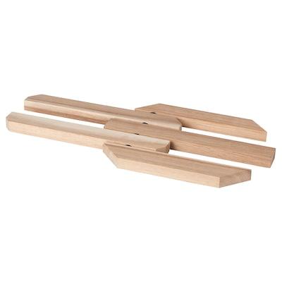 EKSOPP เอียคซอพ ที่รองหม้อปรับขยายได้, ไม้อะคาเซีย, 21x15 ซม.