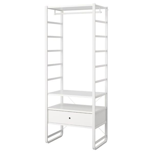ELVARLI เอลวาร์ลี ชุดตู้เสื้อผ้า, ขาว, 84x55x216 ซม.