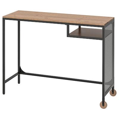 FJÄLLBO ฟแยลบู โต๊ะแล็ปท็อป, ดำ, 100x36 ซม.