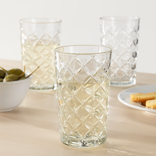 FLIMRA ฟลิมรา แก้วน้ำ, แก้วใส/มีลาย, 42 ซล.