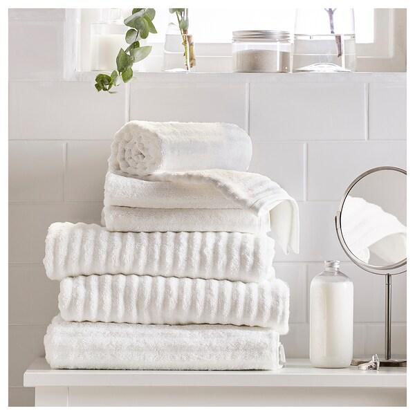 FLODALEN ฟลูดาเลน ผ้าเช็ดมือ, ขาว, 40x70 ซม.