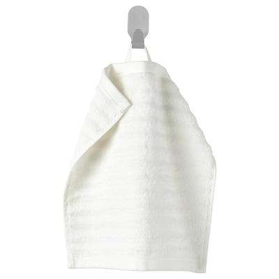 FLODALEN ฟลูดาเลน ผ้าขนหนู, ขาว, 30x30 ซม.