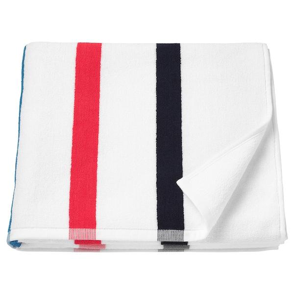 FOSKÅN ฟอสคอน ผ้าเช็ดตัว, ขาว/หลากสี, 70x140 ซม.