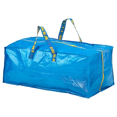 FRAKTA ฟรัคต้า กระเป๋าพลาสติก, น้ำเงิน, 76 ลิตร