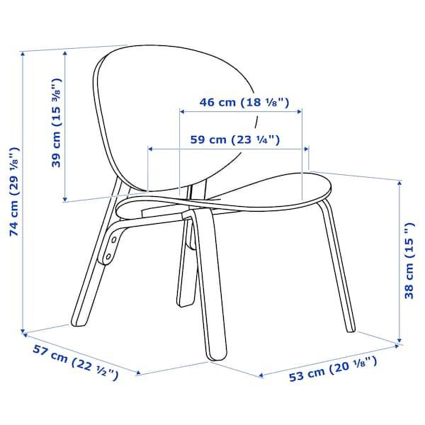 FRÖSET เฟรอเซต เก้าอี้พักผ่อน, วีเนียร์สีไวท์โอ๊ค