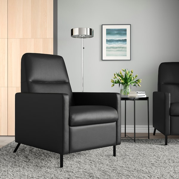 GISTAD ยีสตัดด์ เก้าอี้ปรับเอนนอน, บุมสตอด ดำ