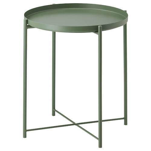 กลาดุม โต๊ะวางถาด (ยกถาดออกได้) เขียวเข้ม 53 ซม. 45 ซม.