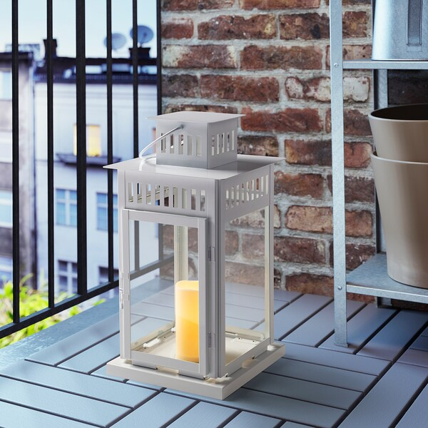 GODAFTON กูดัฟตอน เทียนแท่ง LED ในร่ม/กลางแจ้ง, ใช้แบตเตอรี/สีเนเชอรัล, 14 ซม.