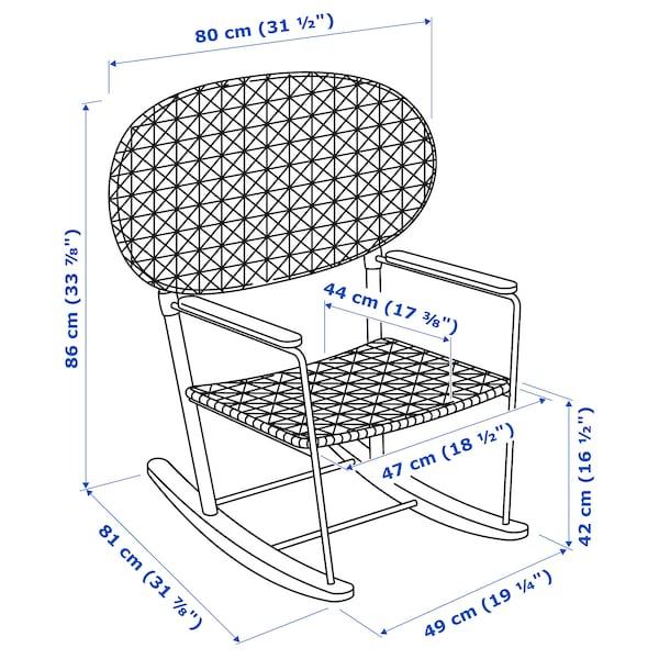 GRÖNADAL เกรินนาดอล เก้าอี้โยก, เทา/สีเนเชอรัล