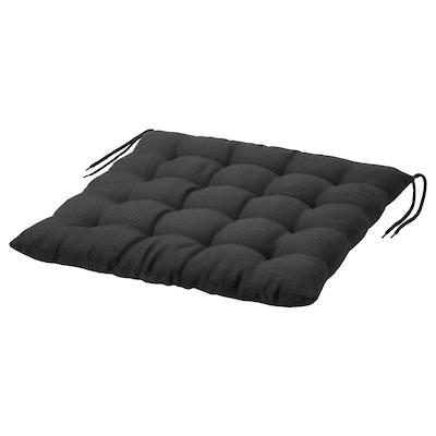 HÅLLÖ โฮลเออ เบาะรองเก้าอี้ กลางแจ้ง, ดำ, 50x50 ซม.