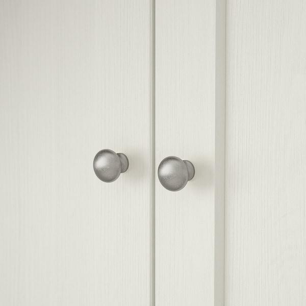 HAVSTA ฮาฟสต้า ตู้บานกระจก, ขาว, 162x37x134 ซม.
