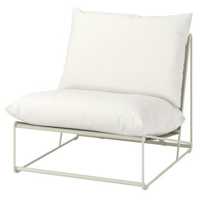 HAVSTEN ฮาฟสเติน เก้าอี้พักผ่อน ใน/นอกอาคาร, เบจ, 83x94x90 ซม.