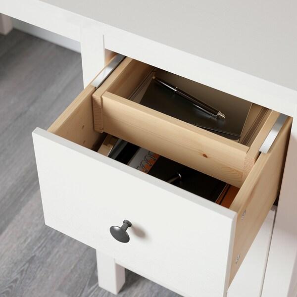 HEMNES เฮมเนส โต๊ะทำงาน, ไวท์สเตน, 155x65 ซม.