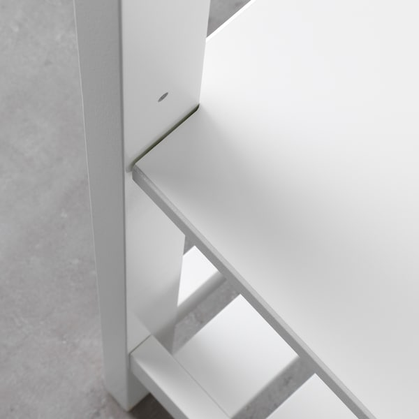 HEMNES เฮมเนส ชั้นวางของ, ขาว, 42x172 ซม.