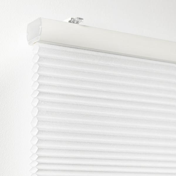 HOPPVALS ฮพวัลส์ มู่ลี่โปร่ง, ขาว, 100x155 ซม.