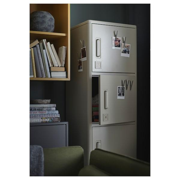 IDÅSEN อิดัวเซน ตู้สูงมีลิ้นชัก+บานปิด, เบจ, 45x172 ซม.