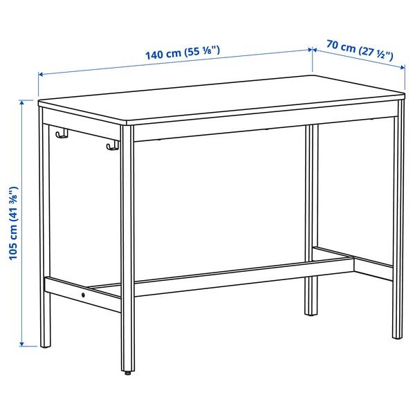 IDÅSEN อิดัวเซน โต๊ะ, ดำ/เบจ, 140x70x105 ซม.