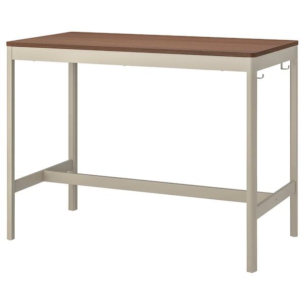 IDÅSEN อิดัวเซน โต๊ะ, น้ำตาล/เบจ, 140x70x105 ซม.