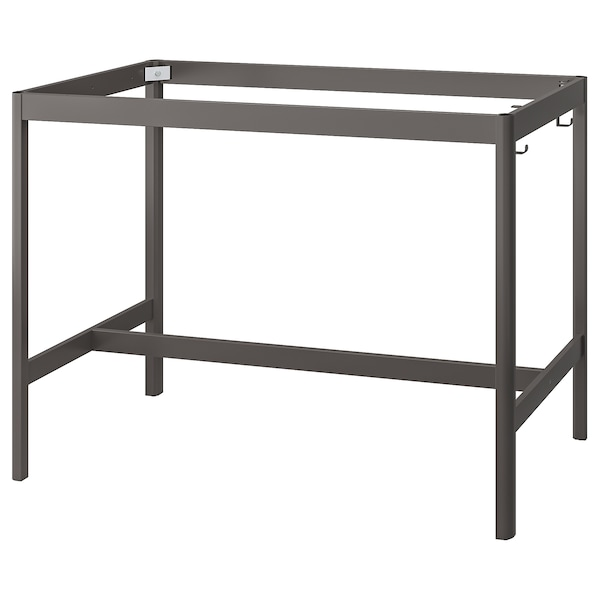 IDÅSEN อิดัวเซน โครงขาโต๊ะ, เทาเข้ม, 139x69x102 ซม.