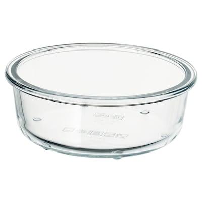 IKEA 365+ อิเกีย 365+ กล่องเก็บอาหาร, กลม/แก้ว, 400 มล.