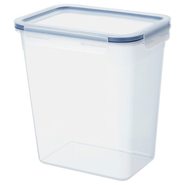 IKEA 365+ อิเกีย 365+ กล่องเก็บอาหารพร้อมฝาปิด, สี่เหลี่ยมผืนผ้า/พลาสติก, 4.2 ลิตร