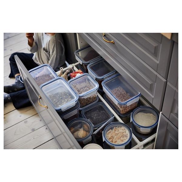 IKEA 365+ อิเกีย 365+ กล่องเก็บอาหารพร้อมฝาปิด, สี่เหลี่ยมผืนผ้า/พลาสติก, 1.0 ลิตร