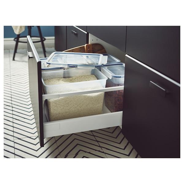 IKEA 365+ อิเกีย 365+ กล่องเก็บอาหารพร้อมฝาปิด, สี่เหลี่ยมผืนผ้า/พลาสติก, 10.6 ลิตร