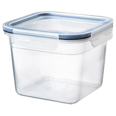 IKEA 365+ อิเกีย 365+ กล่องเก็บอาหารพร้อมฝาปิด, สี่เหลี่ยมจัตุรัส/พลาสติก, 1.4 ลิตร