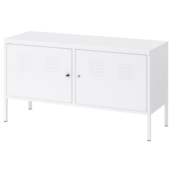 IKEA PS อิเกีย พีเอส ตู้เหล็ก, ขาว, 119x63 ซม.